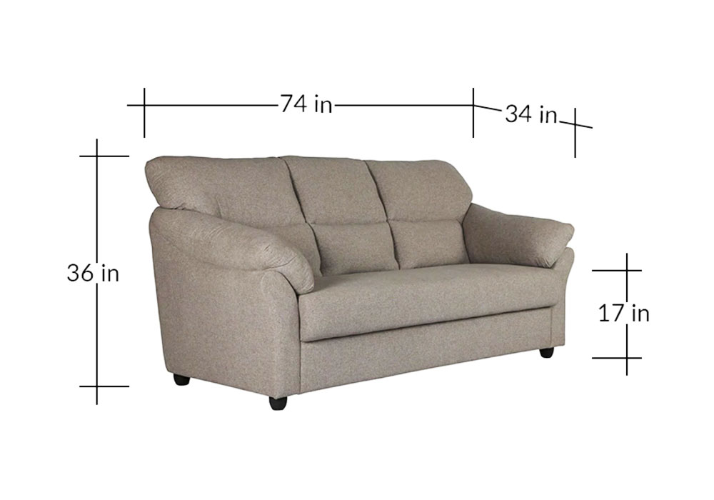 Bangkok-Three-Seater-Gray-colour-Sofa-dimension-by-SPNS