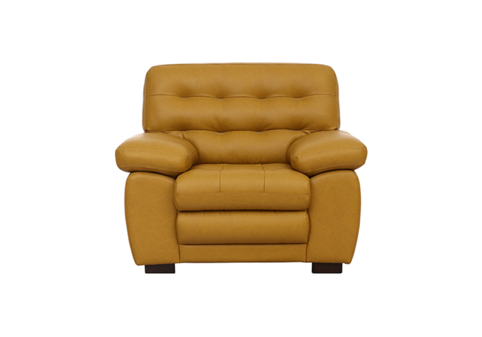 Cosmos single Seater Sofa - Mustered Yellow Letherette