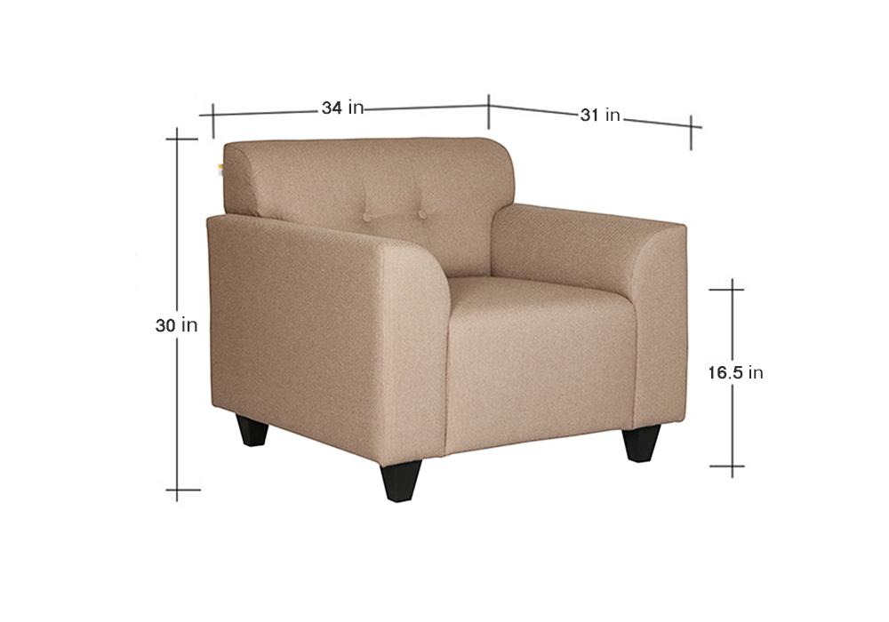 Erica One Seater Sofa diamension - Spns Furniture