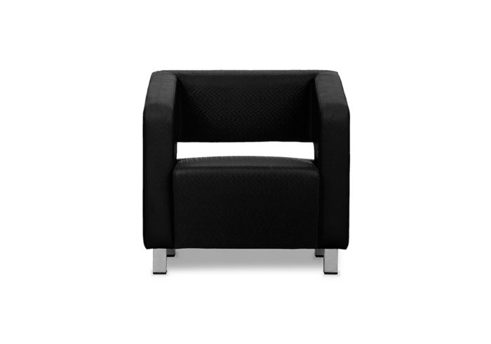 Float One Seater Sofa - Black Leatherett by SPNS
