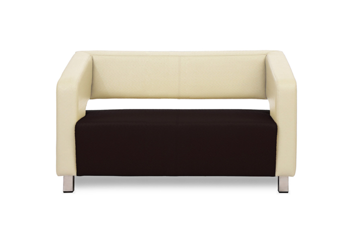 Float Two Seater Sofa - Combination of cream & brown color Letherette by SPNS