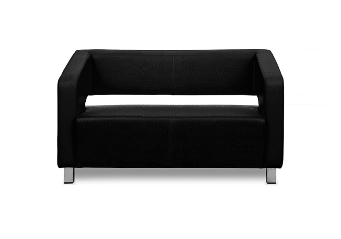 Float Two Seater Sofa - black color Letherette by Spns