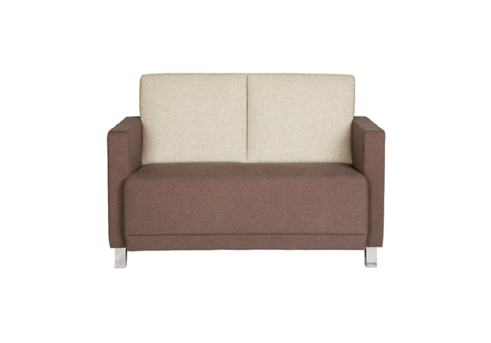 Flora Two seater sofa- combination of beige & dark brown colour