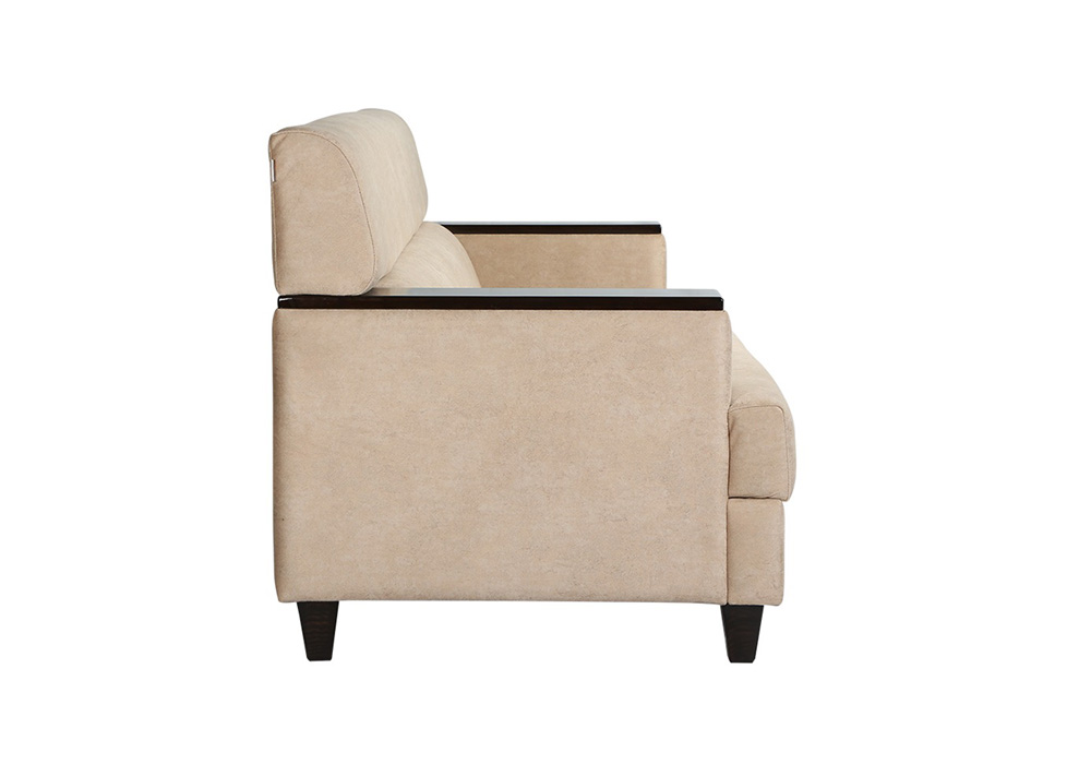 Larch Three Seater Sofa sideview by SPNS Furniture