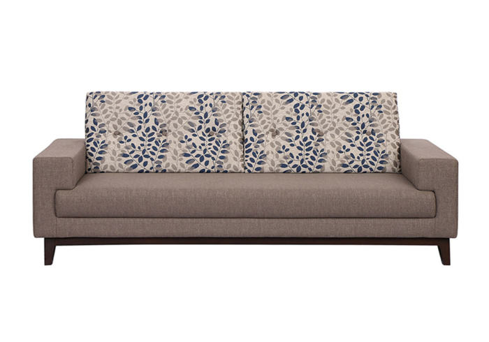 Marigold three Seater Sofa - Combination of Light stone gray & Ink blue colour