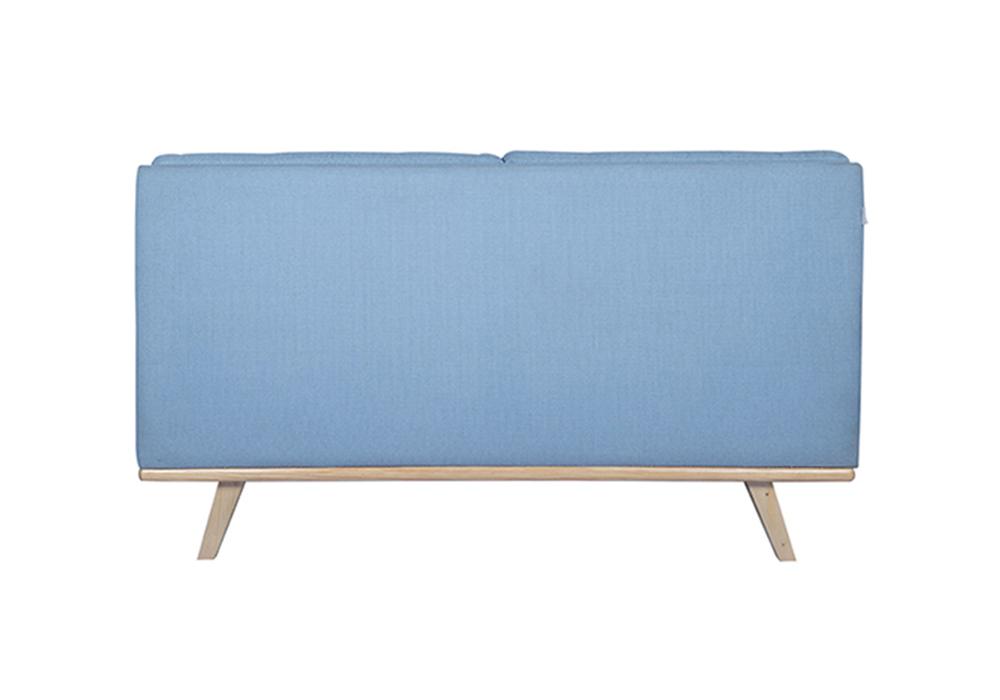Sky Blue Colour - Entawak-Two Seater Sofa-backview-spns-furniture