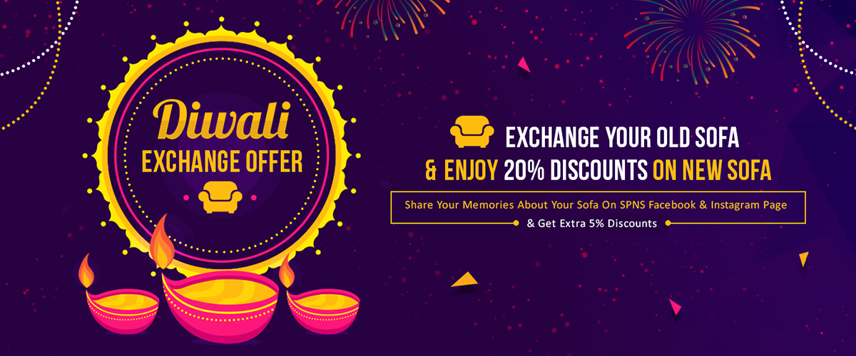 This Diwali Light Up Your Home – With The New Designer Sofa &Amp; A Wow Offer !