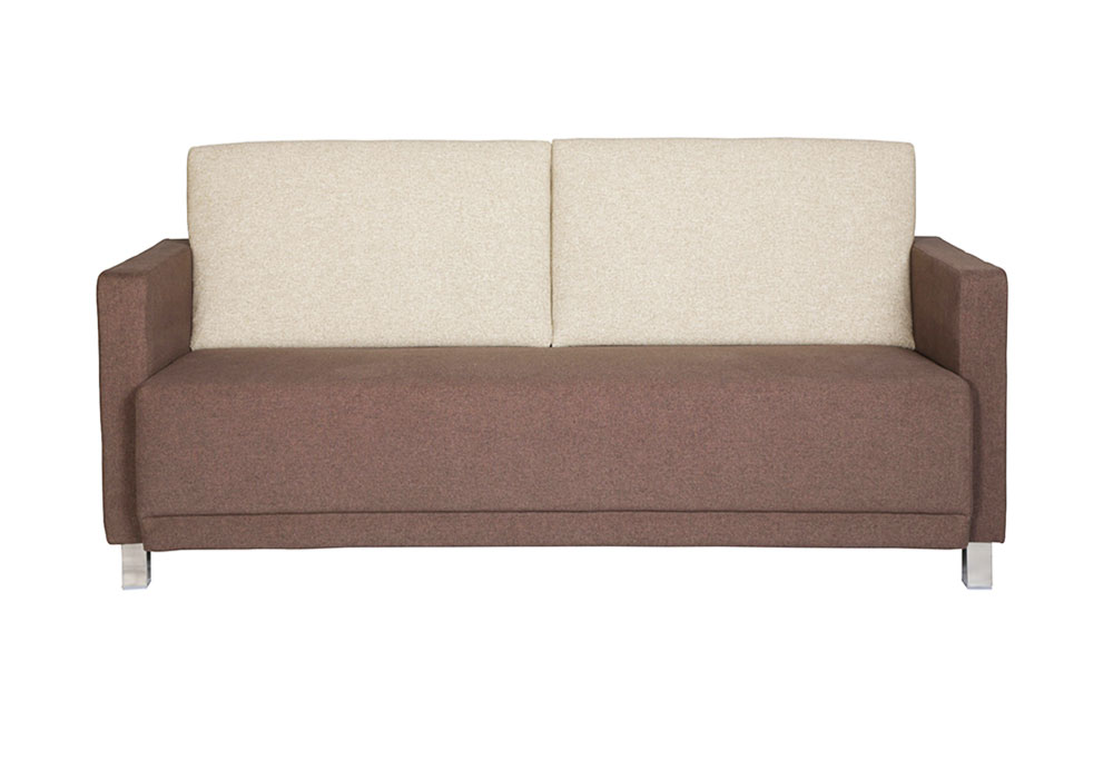 flora three seater sofa- combination of beige & dark brown colour