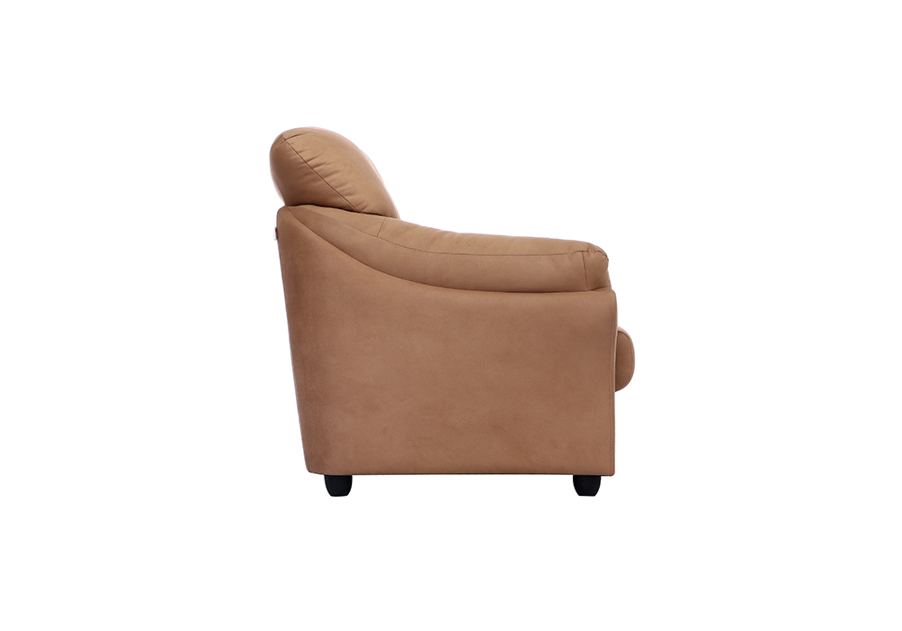 Bangkok Single Seater Brown colour Sofa by Spns(left side view)