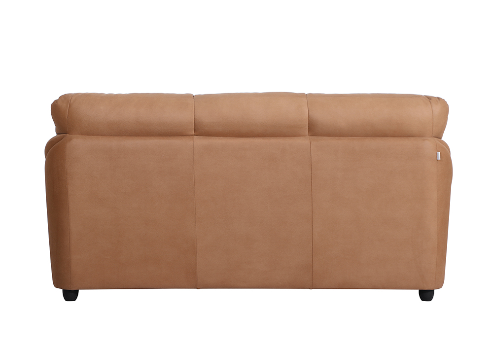 Bangkok Three Seater Brown colour Sofa by Spns (back view)