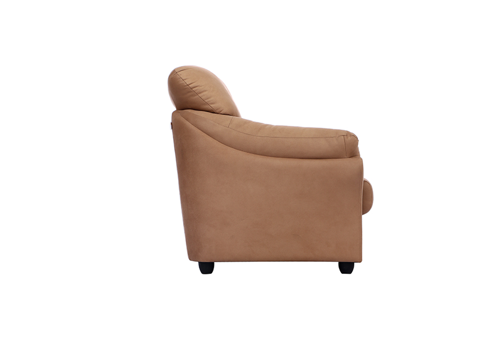 Bangkok Three Seater Brown colour Sofa by Spns(left side view)