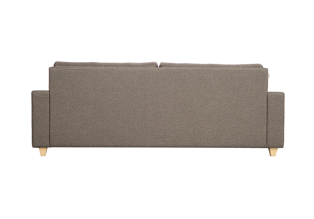 Butter cup three seater sofa-gray color-backview