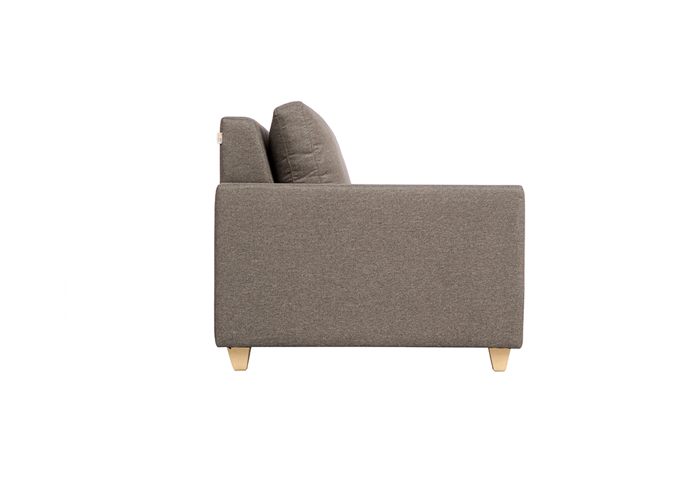 Butter cup three seater sofa-gray color-sideview