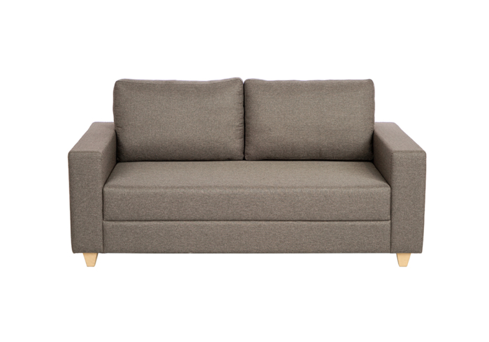 Butter cup two seater sofa-gray color