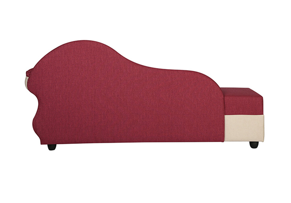 Cindrella-Chaise-LHS-backview-Beige-and-Magenta-Colour-spns-furniture