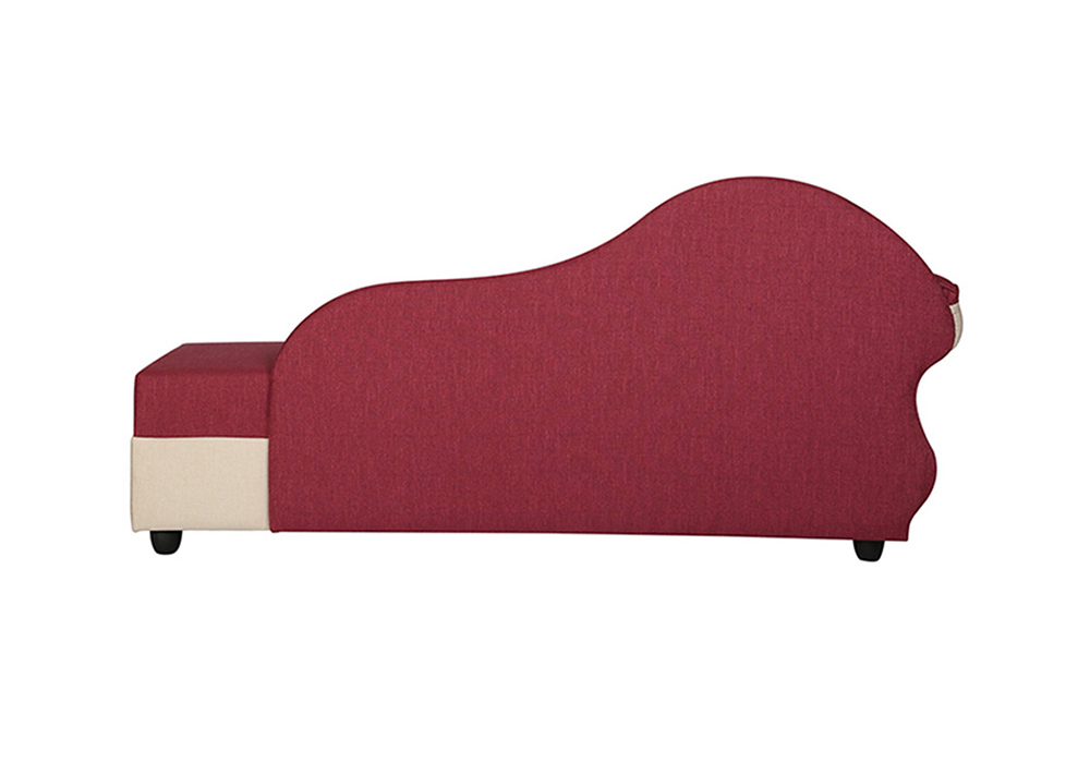 Cindrella-Chaise-RHS-backview-Beige-and-Magenta-Colour-spns-furniture