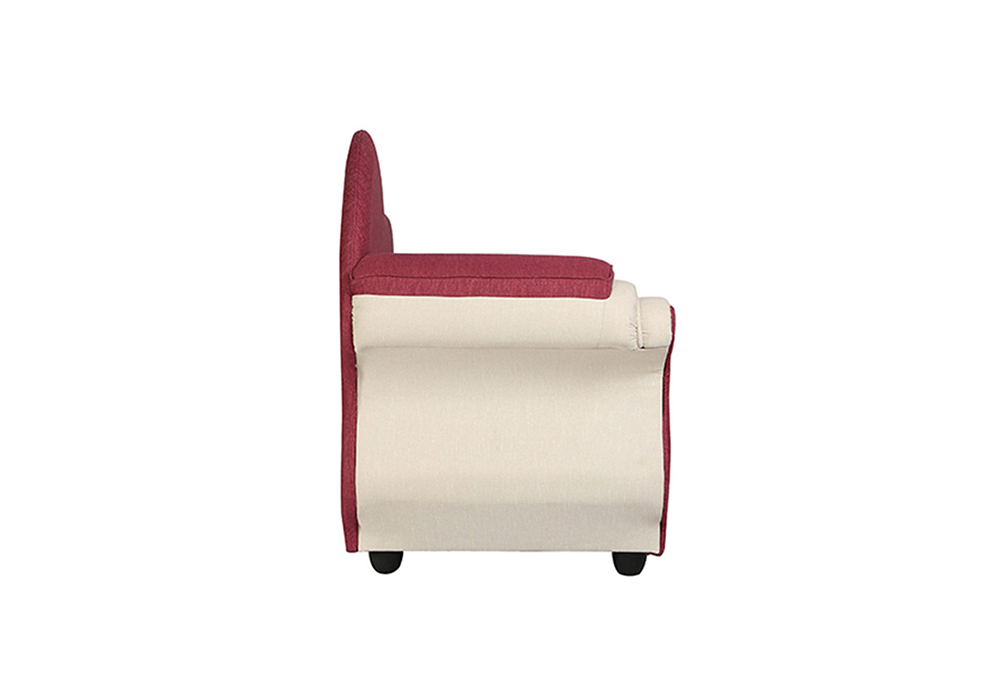 Cindrella-Chaise-RHS-sideview-Beige-and-Magenta-Colour-spns-furniture