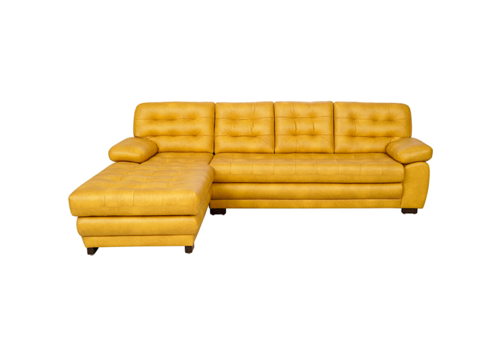 Cosmos Lounger RHS Sofa in Mustard Yellow Colour- by spns furniture