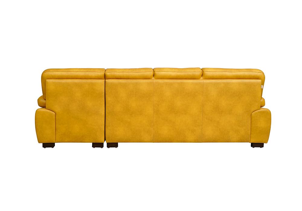 Cosmos Lounger Sofa in Mustard Yellow Colour- backview
