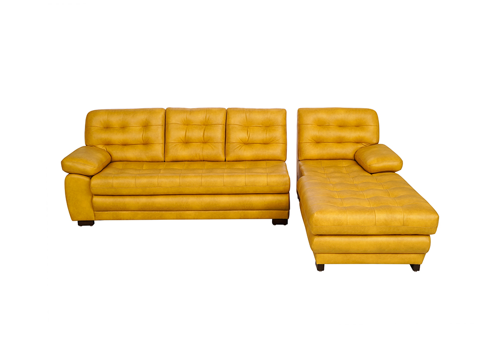 Cosmos Lounger Sofa in Mustard Yellow Colour- separated view
