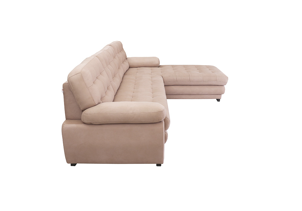 Cosmos-Lounjer-LHS-Sofa-pearl-color-side-view