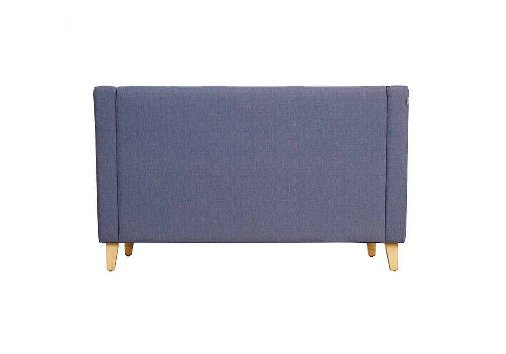Diego 2 Seater Sofa in Denim Blue Colour by Spns (back view)
