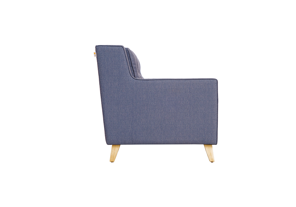 Diego 2 Seater Sofa in Denim Blue Colour by Spns (left side view)