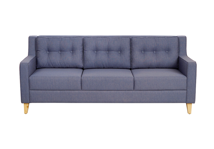 Diego 3 Seater Sofa in Denim Blue Colour by Spns