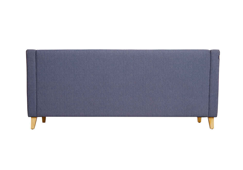 Diego 3 Seater Sofa in Denim Blue Colour by Spns (back view)