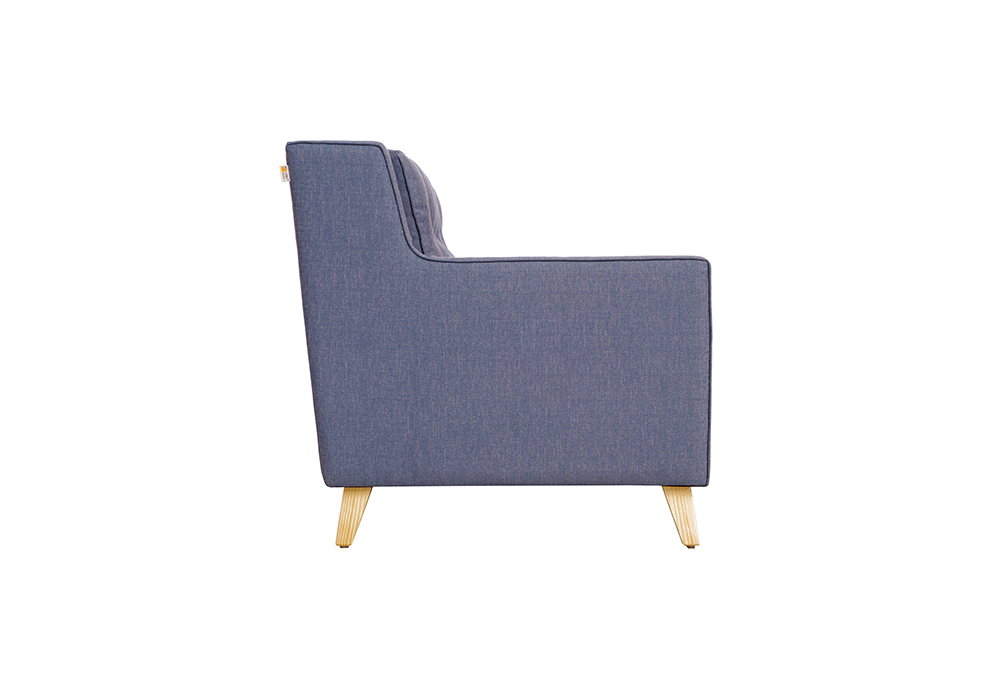 Diego 3 Seater Sofa in Denim Blue Colour by Spns (left side view)