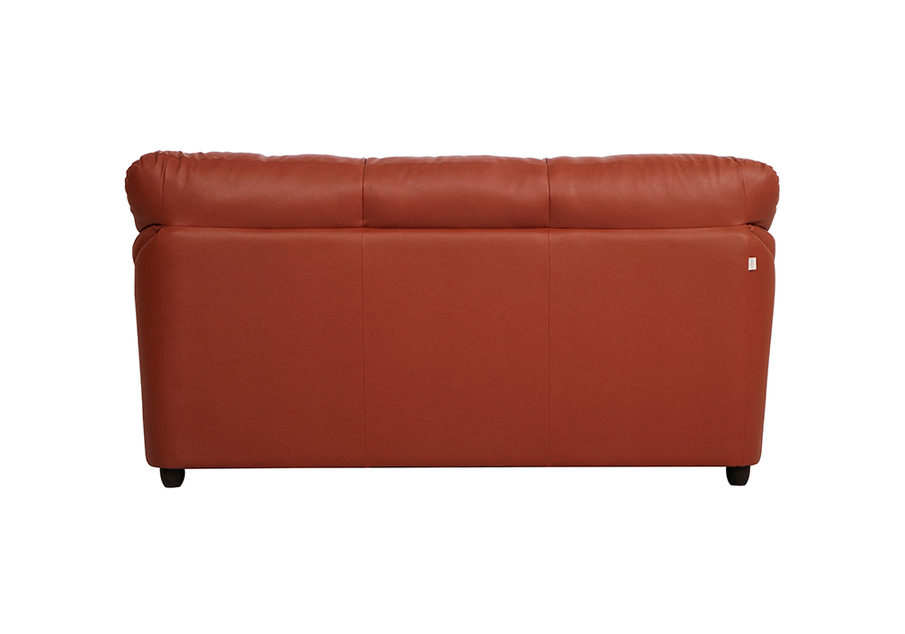 Evita 3-seater dark brown colour sofa (Back view)