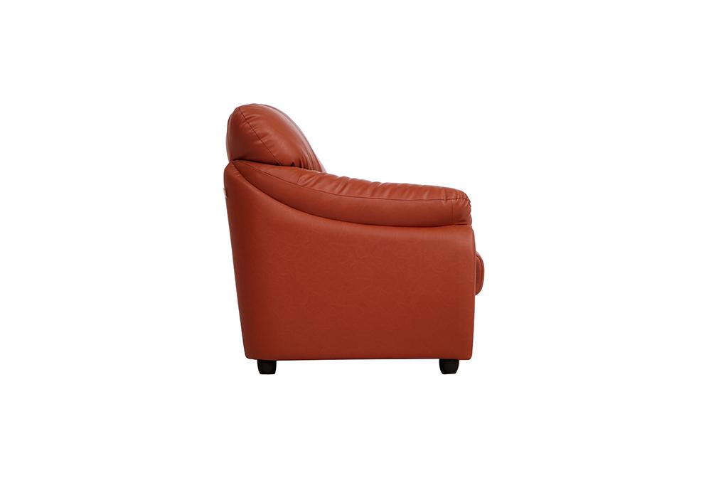 Evita 3-seater dark brown colour sofa (left side view)