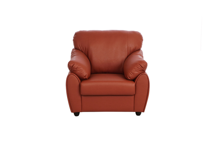 Evita single seater dark brown colour sofa (front view)