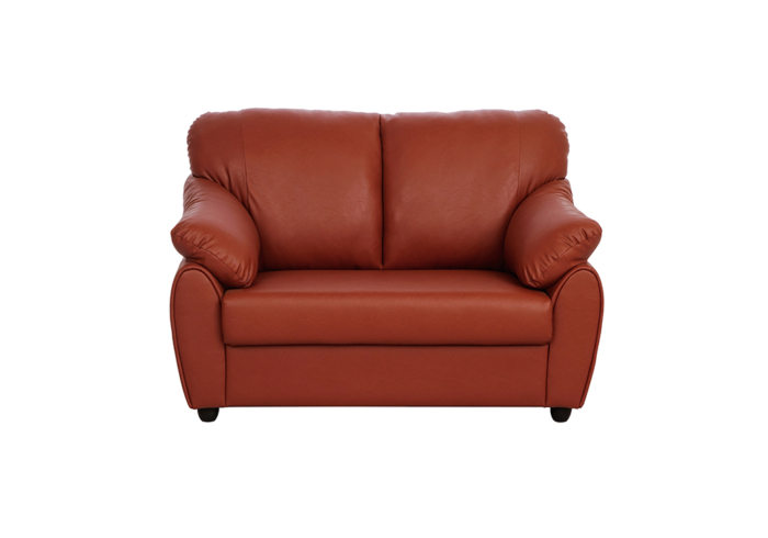 Evita two seater dark brown colour sofa