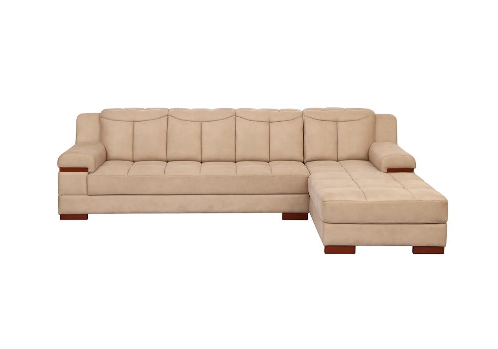Galexy-lhs lounjer peach colour Sofa Set