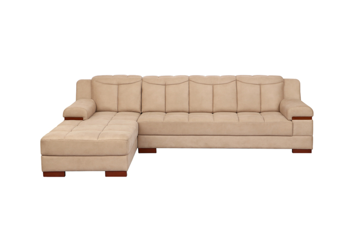 Galexy-rhs lounjer peach colour Sofa Set