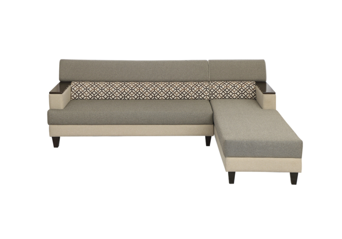 Larch Lounger LHS Sofa Dark Stone & Silver grey Colour by SPNS