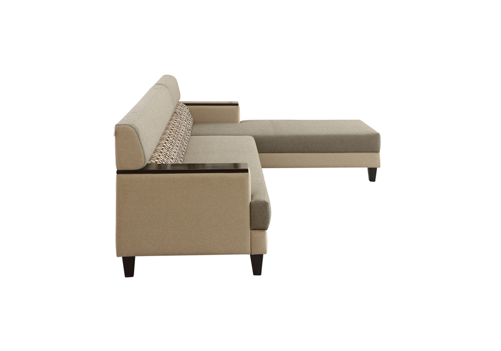 Larch Lounger LHS Sofa Dark Stone & Silver grey Colour by SPNS (left side view)