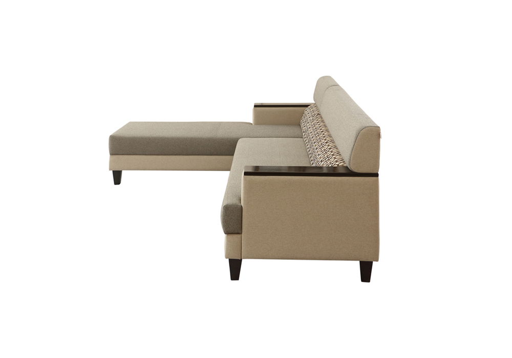 Larch Lounger RHS Sofa Dark Stone & Silver grey Colour by SPNS (left side view)