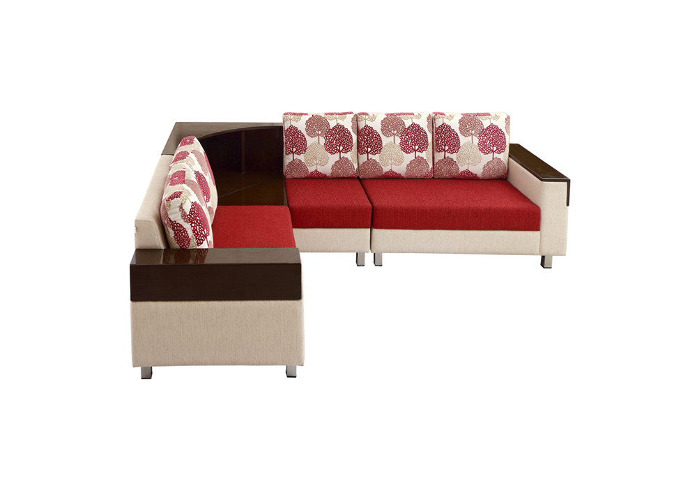 Load Corner 5 Seater red & brown Colour by Spns (right side view)