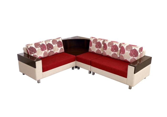 Load Corner 5 Seater red & brown Colour by Spns.
