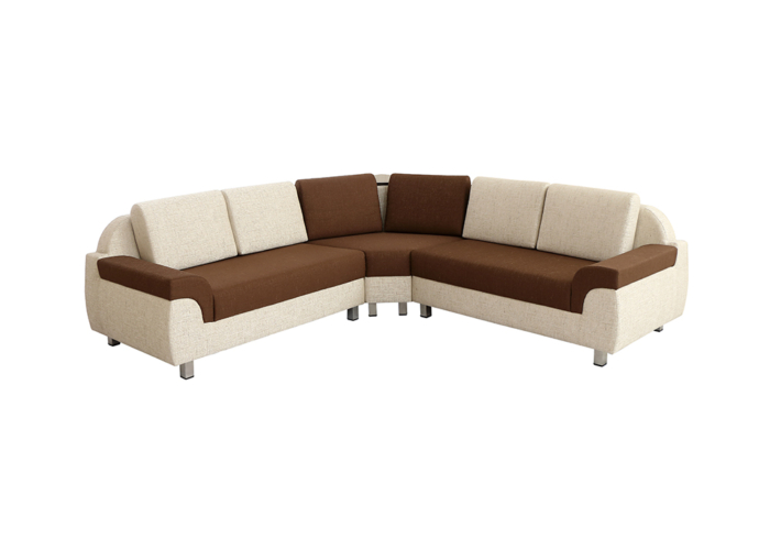 M22 Corner Sofa with Cushions in Beige and Coffee Brown Colour by SPNs