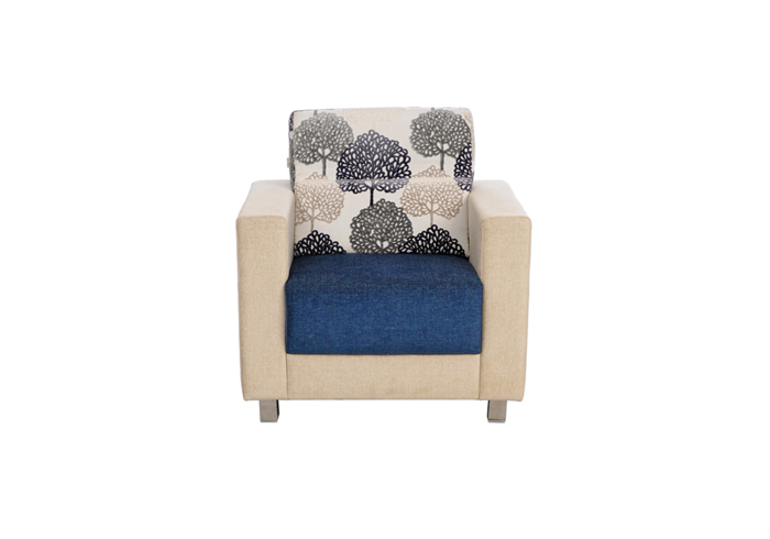 Maple 1 seater Sofa in Blue & Cream by SPNS
