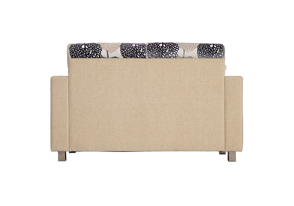Maple 2 seater Sofa in Blue & Cream by SPNS (back view)