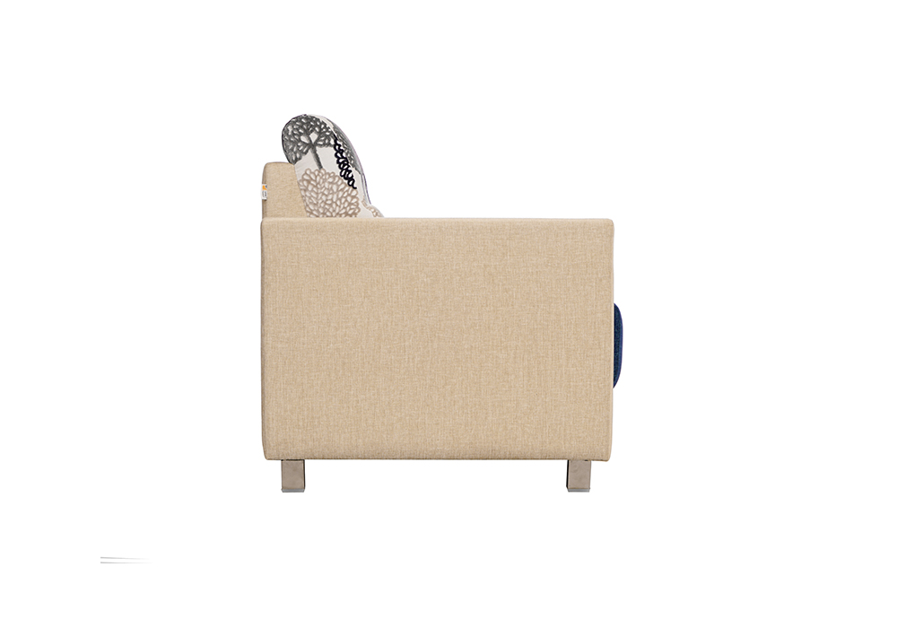 Maple 2 seater Sofa in Blue & Cream by SPNS (right side view)