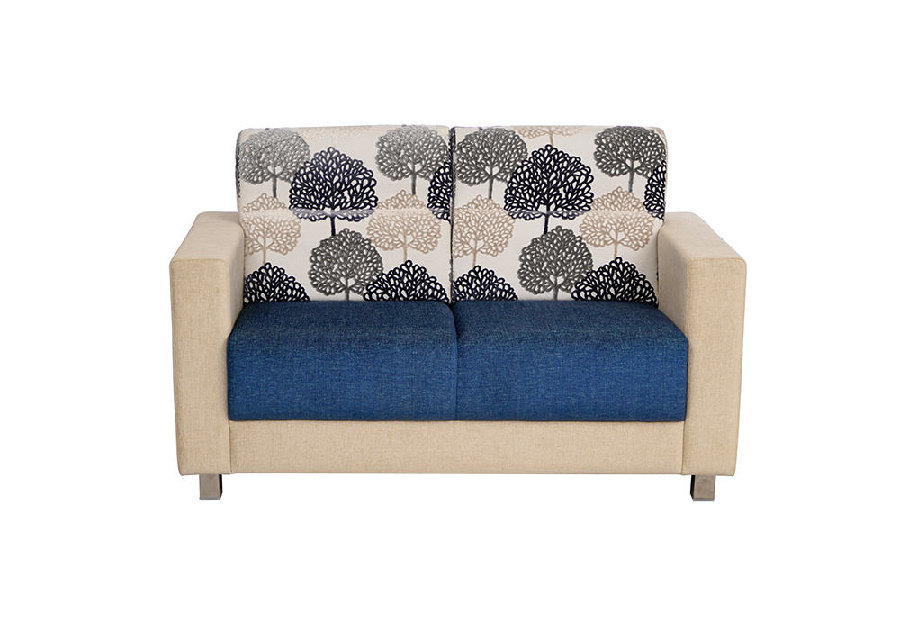 Maple 2 seater Sofa in Blue & Cream by SPNS
