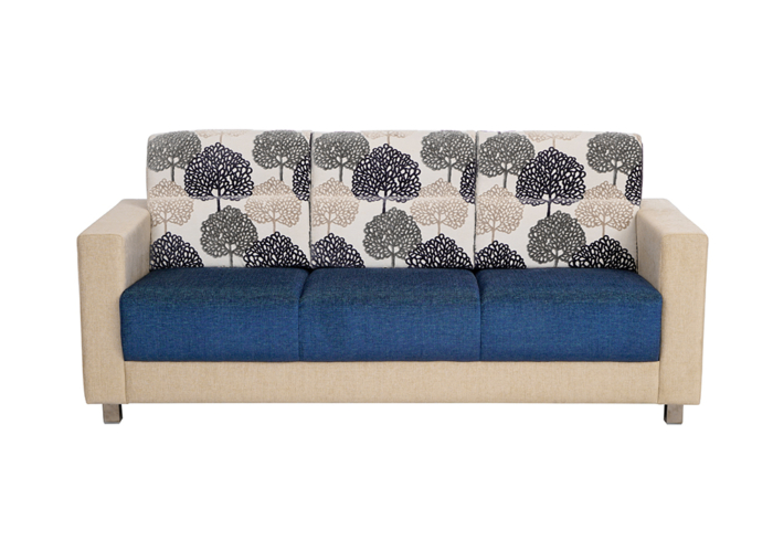 Maple 3 seater Sofa in Blue & Cream by SPNS