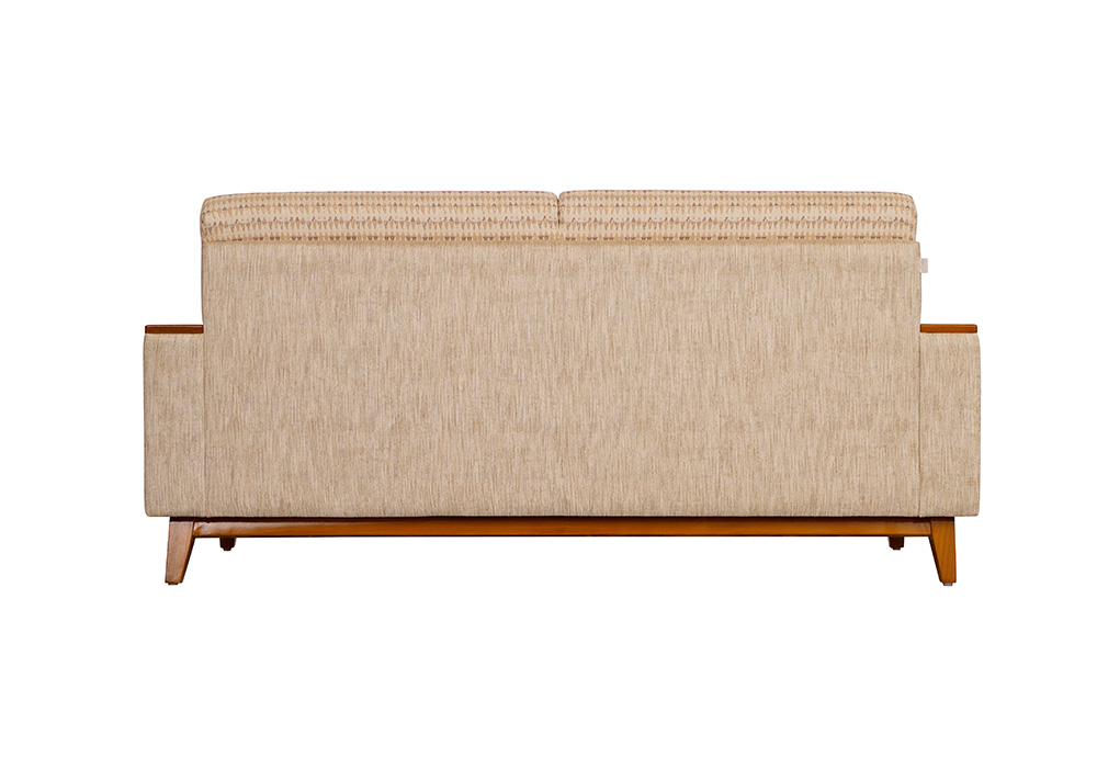 Marigold 3 Seater Sofa in Cream Colour by SPNS (back view)