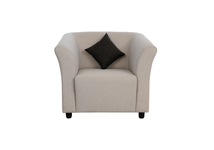 Paris single seater gray colour sofa by spns (with cusion)
