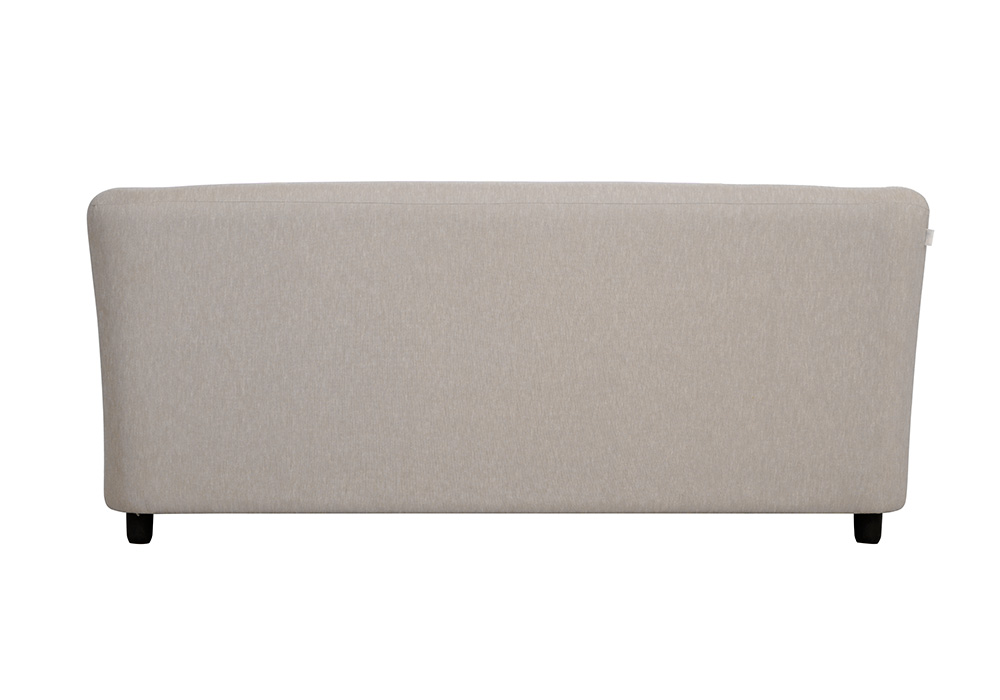 Paris three seater gray colour sofa by spns (back view)